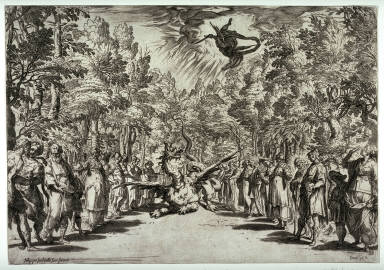 Apollo and the Python, after Bernardo Buontalenti's stage design for the third intermezzo of the festivities for the marriage of Ferdinando I de' Medici and Christine of Lorraine