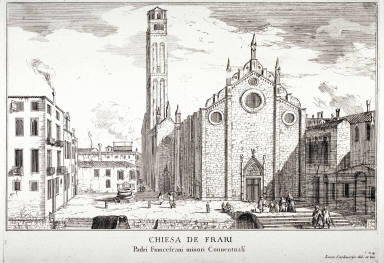 Chiesa de Frari, pl. 24 from the series Le fabriche e vedute di Venetia... (Buildings and Views of Venice)