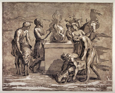 The Sacrifice of Noah, after Raphael