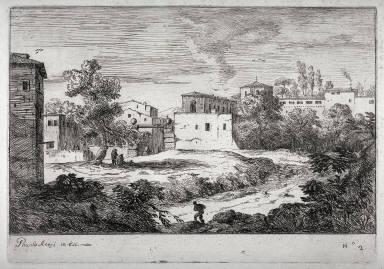Veduta di Porta Castello, pl. 2 from the series Varie vedute (Different Views)