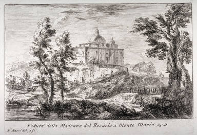 Veduta della Madonna del Rosario a Monte Maria, from the series Varie vedute di Roma (Different Views of Rome)
