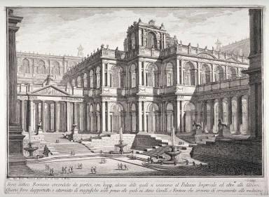 Foro Antico Romano, pl. 14 from the series Prima parte di architettura e prospettive