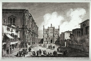 Campo San Rocco, plate 16 from the series Magnificentiores Selectioresque Urbis Venetiarum Prospectus, State II