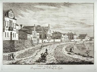 Veduta verso il Taglio (View beside the Taglio), from the series Delle delizie del fiume Brenta (Some delights of the Brenta river)