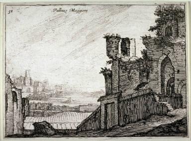 Palazzo Maggiore, pl. 38 from the series Alcune vedute et prospettive di luoghi dishabitati di Roma(Some Views and Perspectives of the Uninhabited Places of Rome)