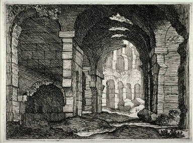 The Colosseum, pl. 50 from the series Alcune vedute et prospettive di luoghi dishabitati di Roma(Some Views and Perspectives of the Uninhabited Places of Rome)