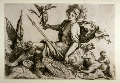 Tutelary Goddess of the City of Rome, from the series De excellentia et nobilitate delineationis libri duo (Principles of Drawing) (Rome: Giacomo Franco, 1611)