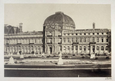 Louvre from 11 albumen prints from Vues de Paris en Photographie, 1858