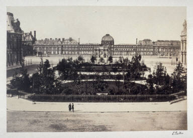 Louvre and Tuileries (#7) from 11 albumen prints from Vues de Paris en Photographie, 1858