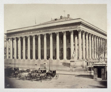 Bourse & Tribune de Commerce (#19) from 11 albumen prints from Vues de Paris en Photographie, 1858