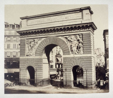 #21 Arch of Louis XIV (erected 1674) from 11 albumen prints from Vues de Paris en Photographie, 1858