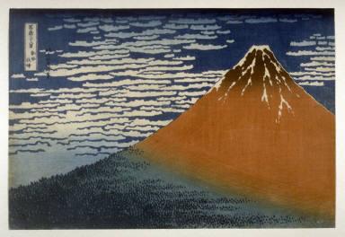 Fuji in Clear Weather [Red Fuji] (Gaifu kaisei ), from the series Thirty-six Views of Mt. Fuji (Fugaku sanjurokkei)