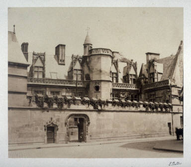 #31 Hotel de Cluny from 11 albumen prints from Vues de Paris en Photographie, 1858