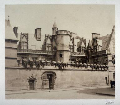 #31 Hotel de Cluny from 11 albumen prints from Vues de Paris en Photographie, 1858