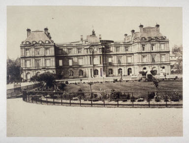 #34 Palais de Luxembourg from 11 albumen prints from Vues de Paris en Photographie, 1858