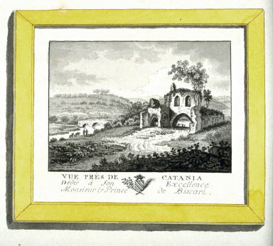 Vue près de Catania, page 462 of the book, Mon passe-tems dédié à moi-même , vol.2