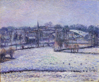 Snow Scene at Eragny (View of Bazincourt)
