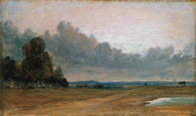 A View on Hampstead Heath with Harrow in the Distance