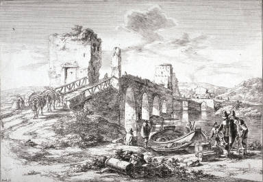 Ponte Molle; From: Landscapes of the Environs of Rome