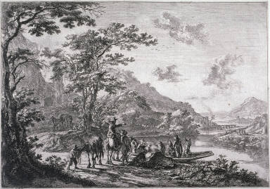 View of the Tiber in the Campagna; From: Landscapes of the Environs of Rome