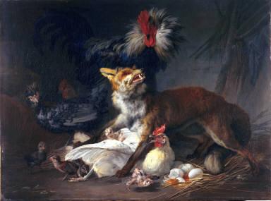 Fox in the Chicken Yard