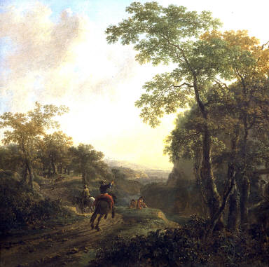 Italian Landscape with Horsemen