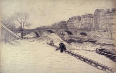 La Seine au Port-Marie, Paris