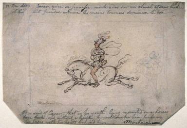 Recto:Julius Caesar In His YouthVerso:Equestrian Sketch