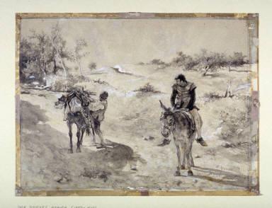 Don Quixote and Sancho Panza in the Mancha