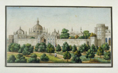 Auspicious Plan of General David Ochterlony's Garden Outside Shah Jehanabad(i.e. Delhi), page from an unidentified album