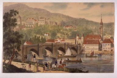Ruins of Heidelberg Castle from the Neckar River