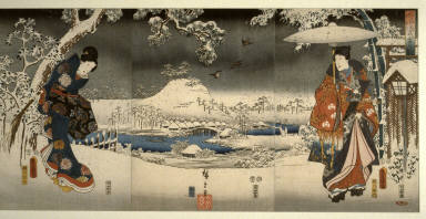 A Snowy Prospect - from the series A Modern Prince Genji