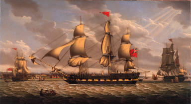British Merchantman in the River Mersey off Liverpool
