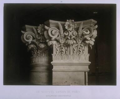 Sculpture ornementale (Ornamental Sculpture), pl. 30 from the book Le nouvel Opéra de Paris (The New Opera of Paris) (Paris: Ducher, 1875-1881)