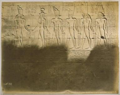 Bas-Relief dans la Cour du Temple d'Edfou (Egypte)