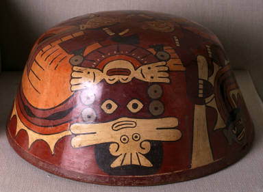 Bowl with two warrior demons with trophy heads