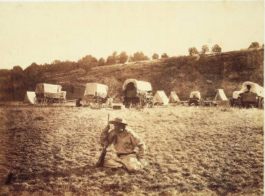 Across the Continent on the Kansas Pacific Railroad: Camp of Surveying