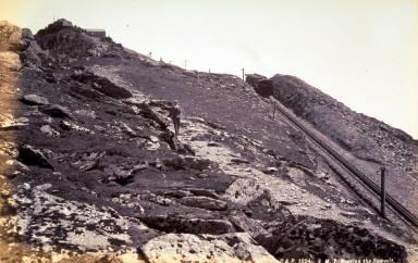 S. M. T. [Snowden Mt. Tramway] Nearing the Summit