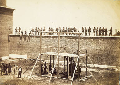 Execution of the Lincoln Assassination Conspirators. The Scaffold.