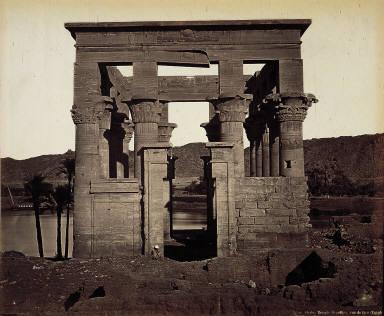Phyle. Temple Hypère, vue de face (Egypte)