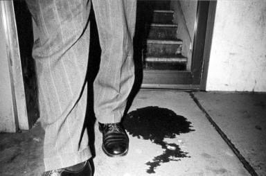Feet leaving a spill, Wilkes-Barre, 1974