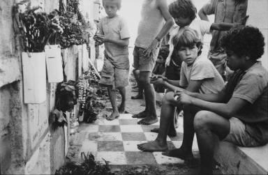 Children in the graveyard, Santa Marta, Colombia
