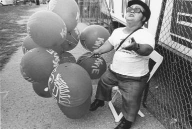 Midget Selling Balloons at Circus Knie
