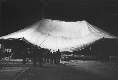 Circus Tent at Night-Circus Knie