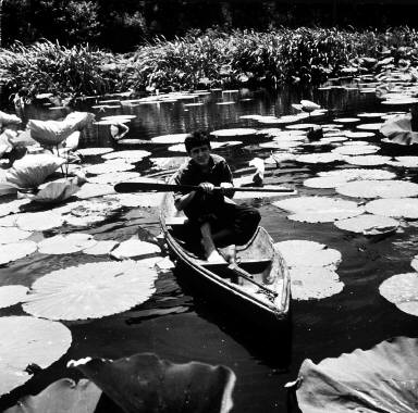 J.C. in his pirogue at Avery Island
