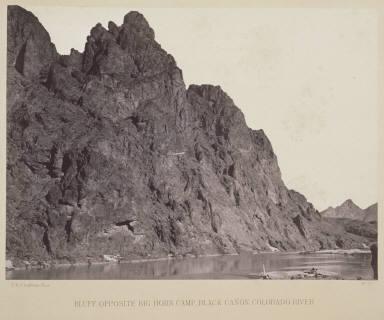 Bluff Opposite Big Horn Camp, Black Canon, Colorado River.