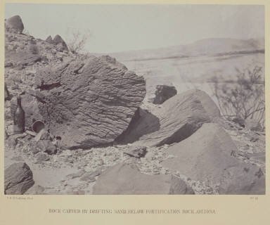 Rock Carved By Drifting Sand, Below Fortification Rock, Arizona.
