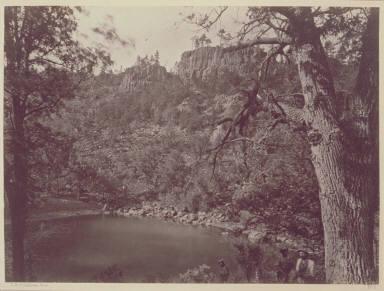 View on Apache Lake, Sierra Blanca Range, Arizona.