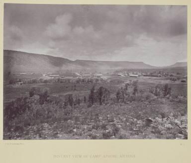 Distant View of Camp Apache, Arizona.