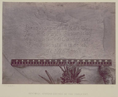 Historic Spanish Record of the Conquest. South Side of Inscription Rock, N. M.